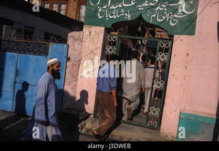 Srinagar, Jammu and Kashmir, India, 2010, Before Friday prayer - Stock Photo