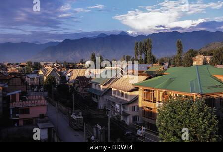 Srinagar, Jammu and Kashmir, India, 2010, A view of Srinagar - Stock Photo