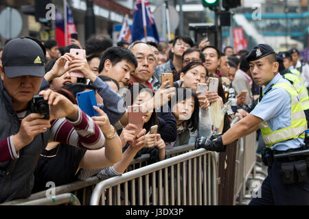 Pro-democracy march in Hong Kong, 2017 - Stock Photo