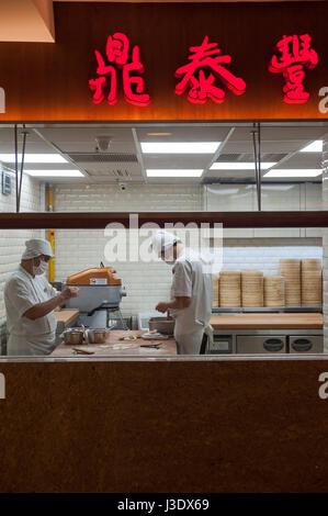 Singapore, Republic of Singapore, Asia, Dim Sum Restaurant kitchen - Stock Photo