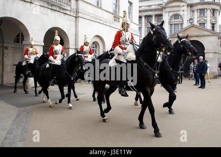 Household Calvary at Horseguards Parade London England - Stock Photo