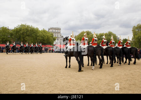 Changing the Horseguards London - Stock Photo