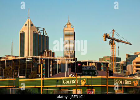 Perth City architecture, Western Australia - Stock Photo