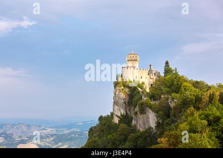 Guaita tower in the Republic of San Marino - Stock Photo