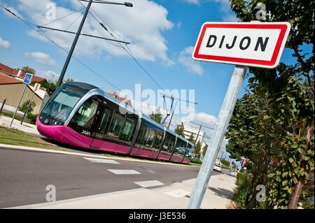 Dijon, Tramway - Stock Photo