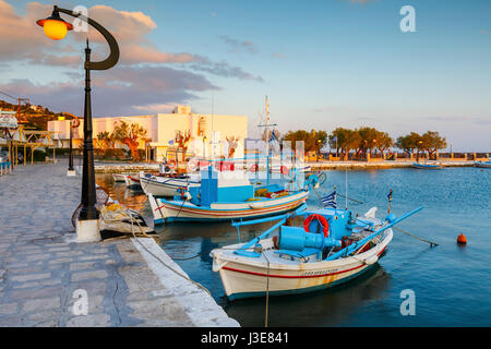 Harbour of Pythagorio town on Samos island, Greece. - Stock Photo
