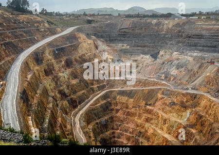 Martha mine, opencast gold mine, Waihi, New Zealand - Stock Photo