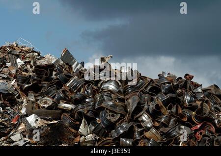 Inside a local car breaker and dismantler, La Reunion - Stock Photo