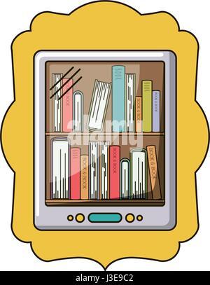 Isolated ebook inside frame design - Stock Photo