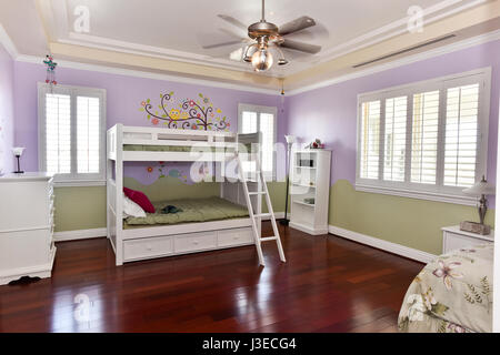 Contemporary teenagers bedroom - Stock Photo
