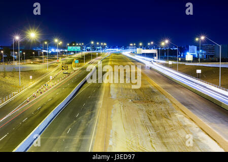 Road Construction Site Highway in Australia, Roe Highway, Highway, Australia, Perth, Western Australia - Stock Photo