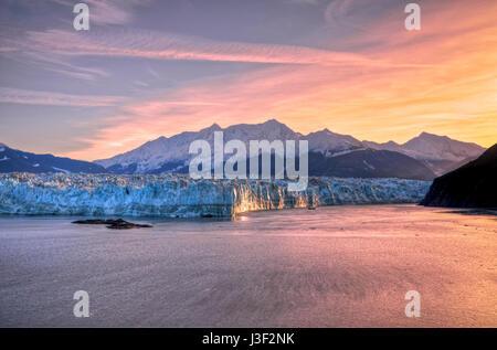 Sunrise at Hubbard Glacier Alaska - Stock Photo