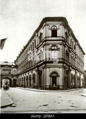 Frankfurt Saalbau 1890 - Stock Photo