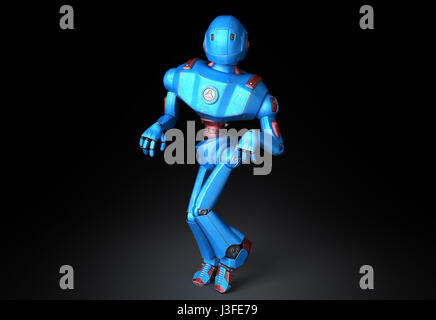 Old robot in a funny pose - Stock Photo