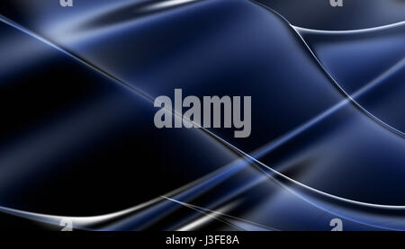 Blue abstract waving lines background - Stock Photo