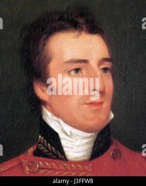 Field Marshal Arthur Wellesley KG CCB GCH CoR 1st Duke of Wellington - Stock Photo
