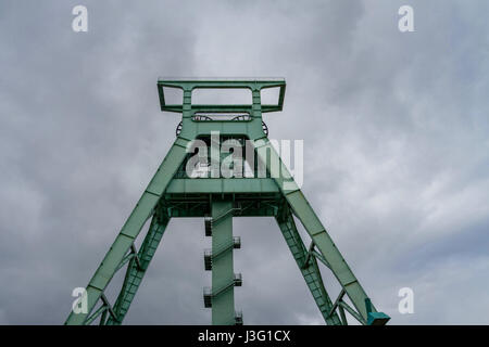 Conveyor tower of the mining museum in Bochum (the most important mining museum in the World and a research institute - Stock Photo