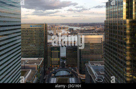 London, England, UK - February 27, 2015: The O2 Arena Millennium Dome dominates the North Greenwich peninsula in - Stock Photo