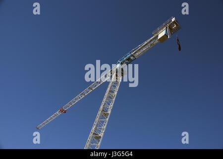 Brisbane, Australia: Construction crane at James Street, Fortitude Valley - Stock Photo