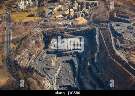 Aerial View Of Quarry - Stock Photo