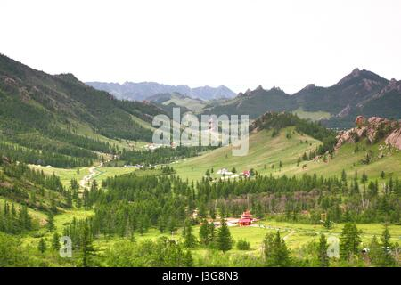 gorkhi-terelj national park at ulaanbaatar , mongolia - Stock Photo
