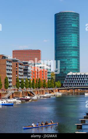 Westhafen, Frankfurt, Germany. April 2017. - Stock Photo
