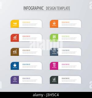 Infographic tab index design vector and marketing template ...