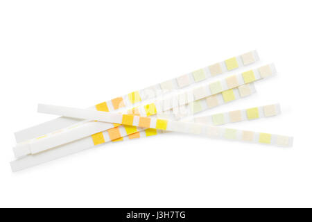 Ph test strips. Isolated on white, clipping path included - Stock Photo