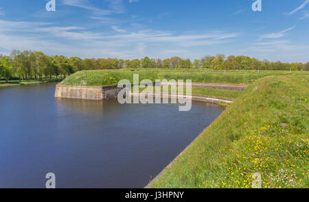 Rampart around the historic city of Naarden, The Netherlands - Stock Photo