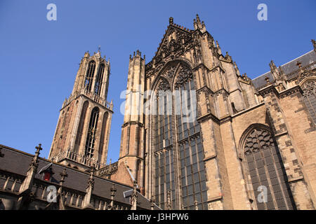 Europe, the Netherlands, Utrecht, the St. Martin's Cathedral or Dom Church - Stock Photo