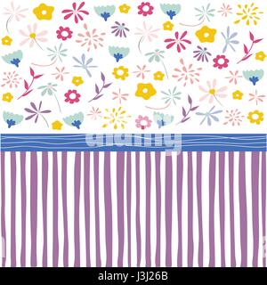 Seamless floral pattern, wallpaper - Stock Photo