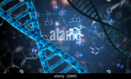 double helix dna abstract background - Stock Photo