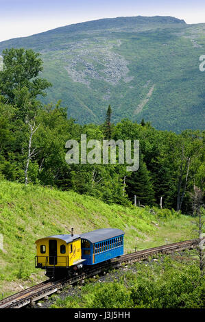 The Cog Railway - Mount Washington, NH - Stock Photo