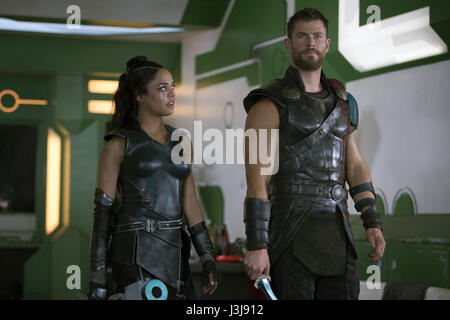 Thor: Ragnarok is an upcoming American superhero film based on the Marvel Comics character Thor, produced by Marvel - Stock Photo