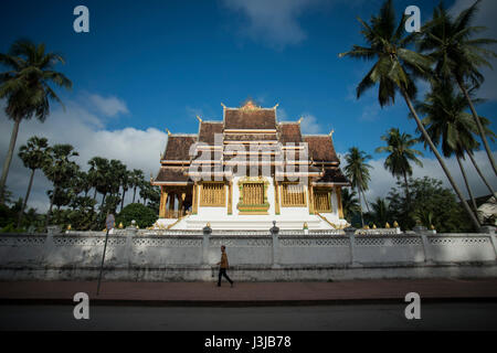 the wat Ho Pha Bang of the royal palace in the town of Luang Prabang in the north of Laos in Southeastasia. - Stock Photo
