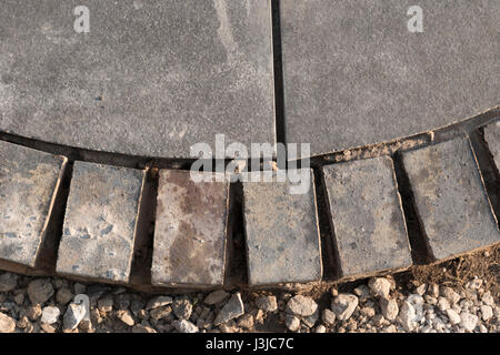 new garden design and construction by an approved Marshalls contractor - Stock Photo