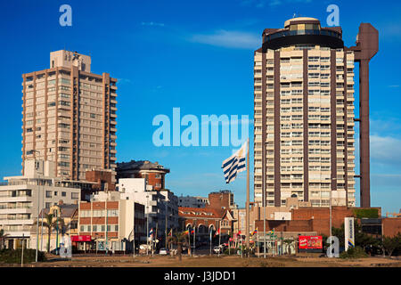 Buildings in the beach front in Playa Brava, Punta del Este, Uruguay. - Stock Photo