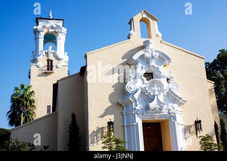 Miami Coral Gables Miami Florida Congregational Church 1925 Spanish Baroque style Protestant religion ornamental - Stock Photo