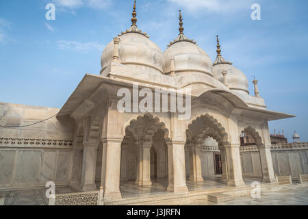 Nagina Masjid is a mosque inside Agra Fort built by the Mughal emperor Shah Jahan in 1635 AD for use by the ladies - Stock Photo