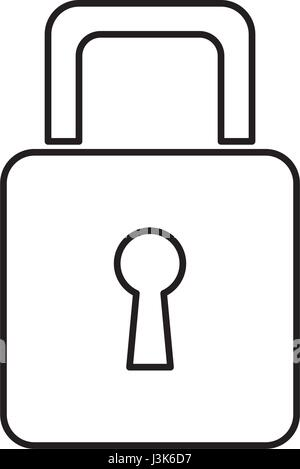 padlock security information technology data line - Stock Photo
