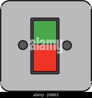 energy switch and push buttons - Stock Photo
