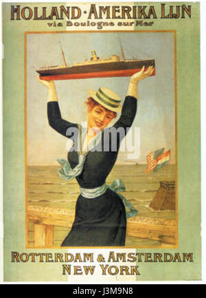 Holland Amerika Lijn 1898 - Stock Photo