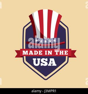 made in the usa design  - Stock Photo
