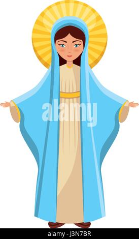 Holy virgin mary icon - Stock Photo