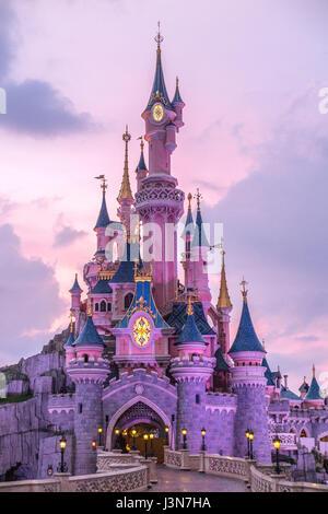 Euro Disney Castle - Stock Photo