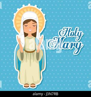 holy Miracle virgin religious card - Stock Photo