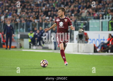 Turin, Italy. 6th May, 2017. Adem Ljajic (Torino FC) in action during the Serie A football match between Juventus - Stock Photo
