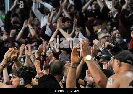 Turin, Italy. 6th May, 2017. Supporters during the match Serie A TIM between  Juventus FC and  Torino FC at Juventus - Stock Photo