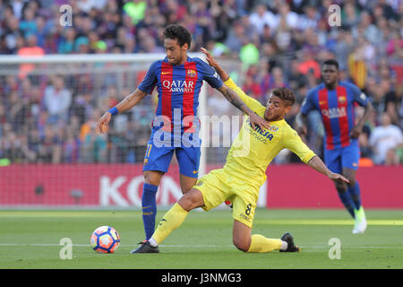 Barcelona, Spain. 6th May, 2017. La Liga game 31. picture show Neymar in action during game between FC Barcelona - Stock Photo