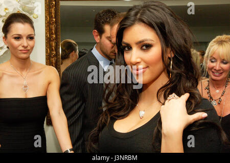 Kim Kardashian at the launch of Heavenly Sinful Jewels and GENLUX Magazine party on the rooftop at the Luxe Hotel - Stock Photo